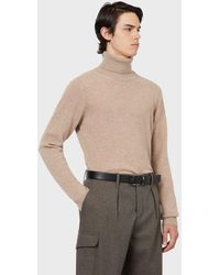 Emporio Armani Jersey de cuello alto de cachemir puro - Neutro
