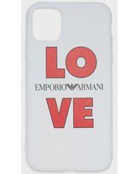 Emporio Armani Iphone 11 Love Case - White