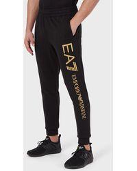 Emporio Armani Pantalon de jogging avec logo - Noir