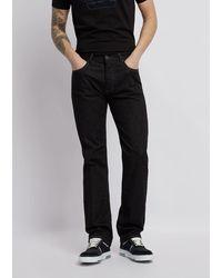 Emporio Armani Jeans J21 Regular Fit aus Baumwollgabardine mit Stretch - Schwarz