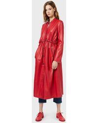 Emporio Armani Leather Outerwear - Red