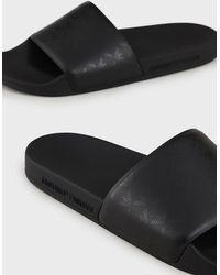Emporio Armani Slides - Black
