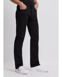 Emporio Armani Emporio J21 Regular Fit Stretch Jeans - Black