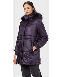 Emporio Armani Puffer Jacket - Purple