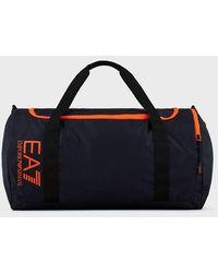 Emporio Armani Grand sac avec logo - Bleu
