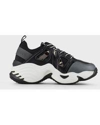 Emporio Armani Sneakers chunky con aperture laterali - Grigio