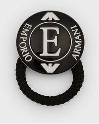 "Emporio Armani ""e"" Hairband - Black"