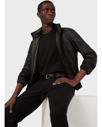 Emporio Armani Leather Outerwear - Black