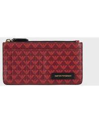 Emporio Armani Card Holder - Red