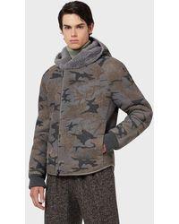 Emporio Armani Leather Coat - Gray
