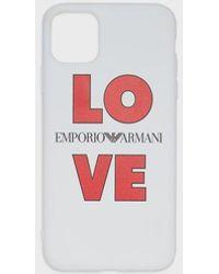 Emporio Armani Cover LOVE iPhone 11 Pro Max - Bianco