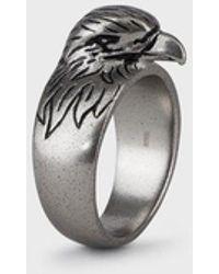 Emporio Armani Men's Eagle Silver-tone Stainless Steel Cocktail Ring - Metallic