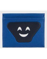 Emporio Armani Card Holder With Emoji Patch - Blue