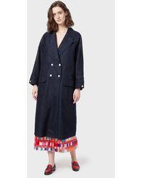 Emporio Armani Coats - Blue