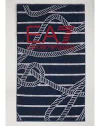 Emporio Armani Towel - Blue
