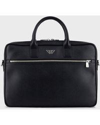 Emporio Armani Small Briefcase - Black
