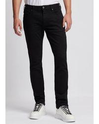 Emporio Armani Jeans J06 in Slim Fit aus Komfort-Denim-Twill - Blau