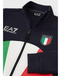 Emporio Armani Trainingsanzug Team Italia Podium Olympische Spiele 2021 - Blau