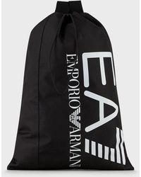 Emporio Armani Sac avec maxi logo - Schwarz