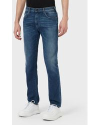 Emporio Armani Regular Fit Jeans J45 aus Denim - Blau