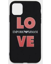 Emporio Armani Cover LOVE iPhone 11 - Nero