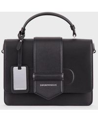 Emporio Armani - Vacchetta Leather Shoulder Bag - Lyst