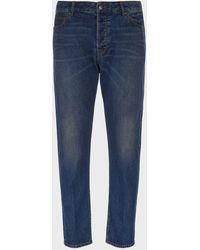 Emporio Armani Tapered Fit J77 Sablé Denim Jeans - Blue