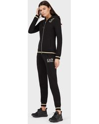 Emporio Armani Tracksuit With Sweatshirt And joggers Trousers - Black