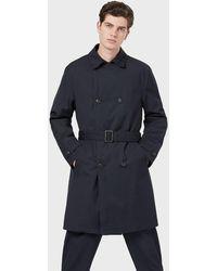 Emporio Armani Trench Coat - Blue