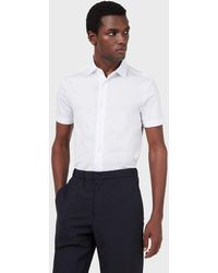 Emporio Armani Camisa de manga corta de mezcla de - Multicolor