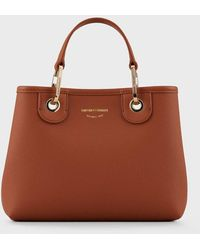Emporio Armani Shopper MyEA Bag piccola stampa cervo - Marrone