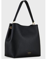 Emporio Armani Deer-print Myea Shoulder Bag - Black