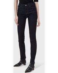 Emporio Armani Jeans J18 slim fit in denim raw stretch - Blu