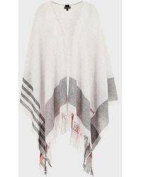 Emporio Armani Pure Wool Poncho - Multicolor