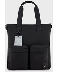 Emporio Armani Shoppers - Black