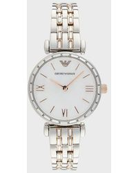 Emporio Armani Two-hand Two-tone Stainless Steel Watch - Metallic
