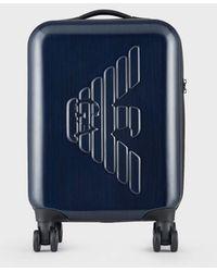 Emporio Armani Rolling Suitcase - Blue