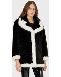 Emporio Armani Eco Fur - Black