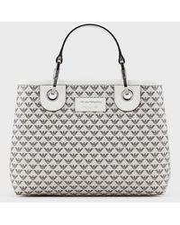 Emporio Armani Shopper MyEA Bag piccola con logo all over - Multicolore