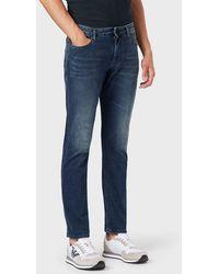 Emporio Armani Jeans J06 in Slim Fit aus Komfort-Stretchdenim - Blau