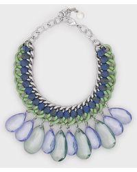 Emporio Armani Collier chaîne ras-de-cou avec pendentifs goutte - Vert