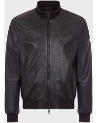 Emporio Armani Leather Jackets - Black