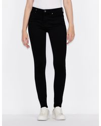 Armani Exchange J01 Super Skinny Jeans - Black