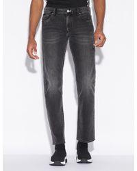 Armani Exchange - Five Pocket Jeans In Denim - Lyst