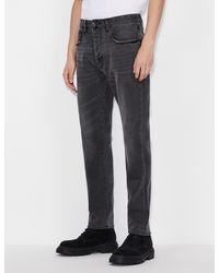 Armani Exchange Ergonomic Tapered Jeans - Grey