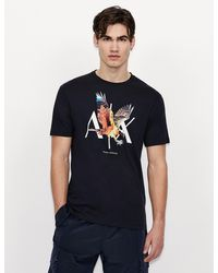 Armani Exchange Logo T-shirt - Blue
