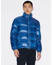 Armani Exchange Duck Down Puffer Jacket - Blue