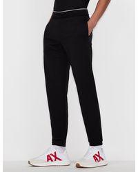 Armani Exchange Jersey Fleece Sweatpants - Black