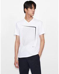 Armani Exchange T-shirt con stampa - Bianco