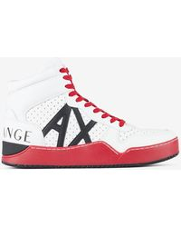 Armani Exchange Leather High-top Trainer - White